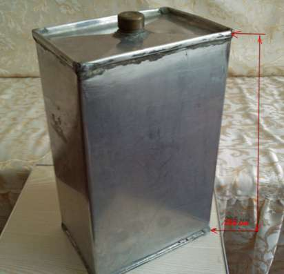 Канистра металлическая нержавейка. Пищевая 7,5 л.   б/у