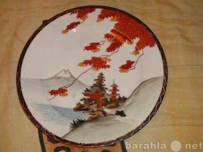 тарелка настенная китайская Пагоды