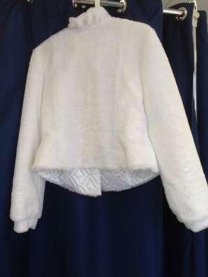 Белая шубка для невесты