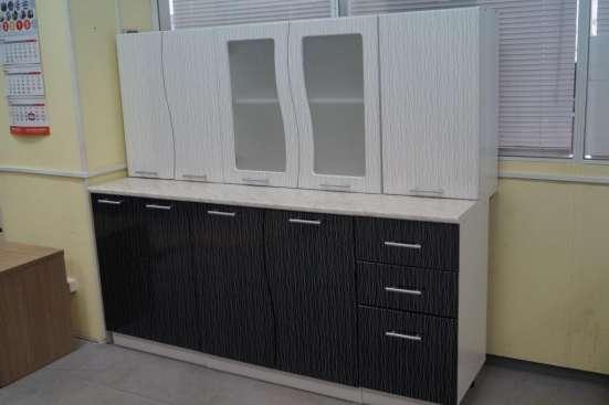 Кухня Волна Черно-белый дождь 1,6 м в Екатеринбурге Фото 1