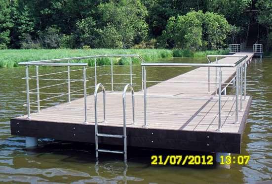 Лестница алюминиевая для прудов, водоемов и бассейнов