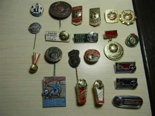 """Значки, футбол, """"Днепр"""", 20 штук, 1983-85 годы"""