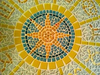 Стол журнальный зодиакальный кр. мозаика. Ручная работа в Москве Фото 3