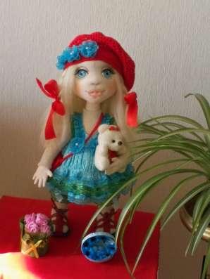 Текстильная интерьерная кукла Лизонька в Тольятти Фото 1