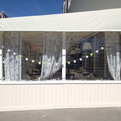 Уличные шторы ПВХ для кафе, ресторанов, беседок, веранд