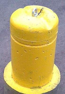 Столбик парковочный бетонный с креплением и покраской в Тюмени Фото 2