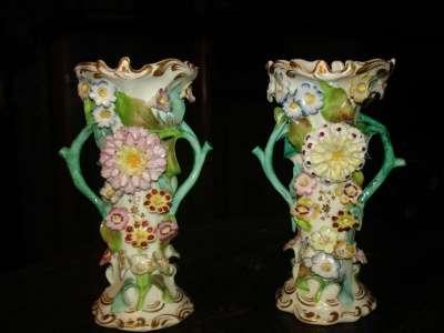 Парные лепные вазы,Коулброкдейл