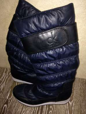 Сапоги темно-синего цвета размер 36