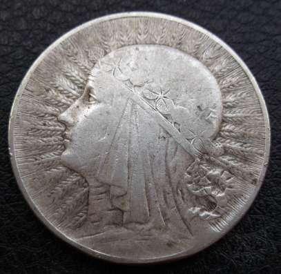5 злотых 1934г. Ядвига. Серебро
