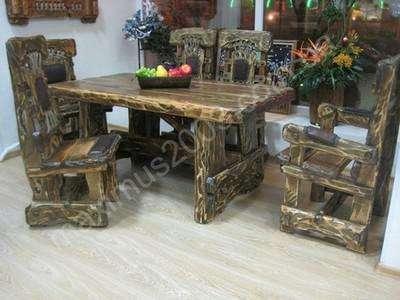 Мебель из массива сосны состаренная в Екатеринбурге Фото 3