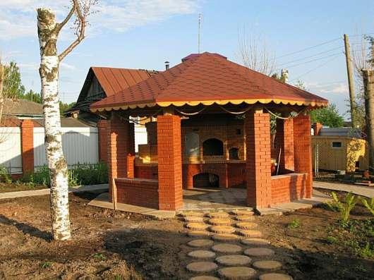 Садовые беседки-барбекю, мангалы, печи для бани