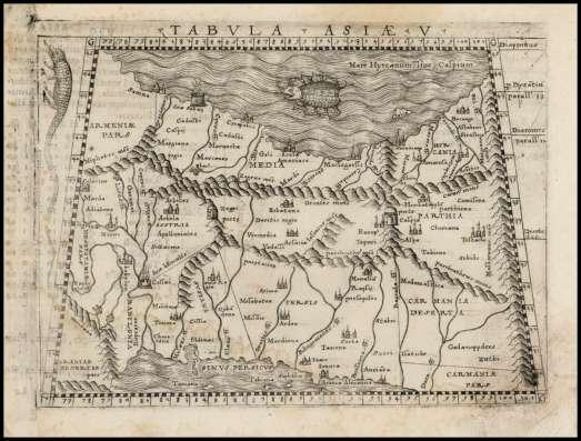 Карта Азии. 1548 г