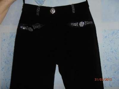 брюки микровельвет  42-44разм