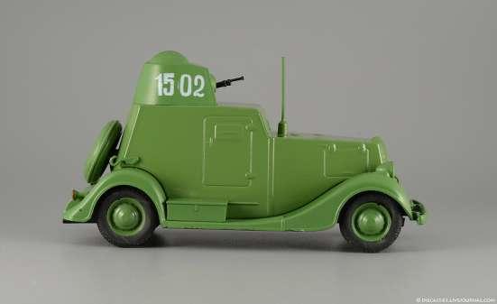 автолегенды ссср №124 БА-20 Бронеавтомобиль