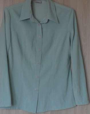Блуза-рубашка цвета мяты, р-46