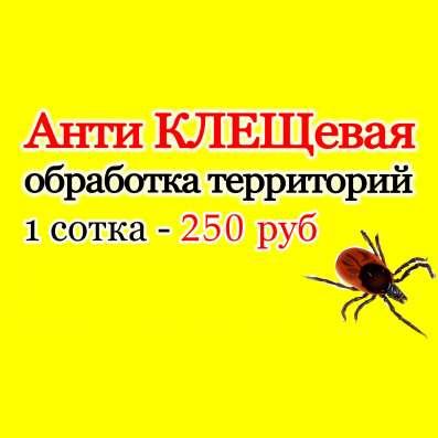 Обработка участков от клещей и комаров