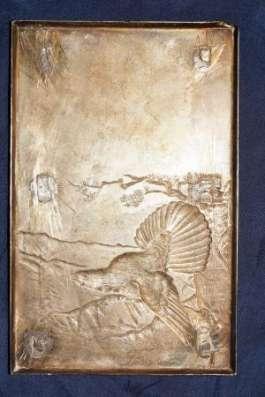Серебряная накладка «Глухарь» из наркомовского набора. СССР, 1930-е гг. в Санкт-Петербурге Фото 2