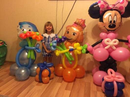Воздушные шары с гелием, фигуры из шаров