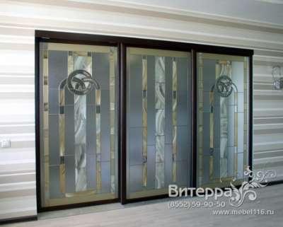 Двери с оформлением витражами в Набережных Челнах Фото 5