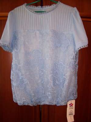 Блузка голубого цвета, размер 46-48