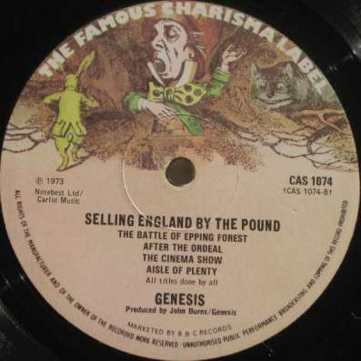 Genesis - Sellibg England By The Pound (UK)