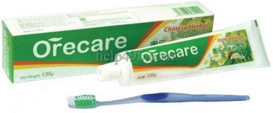 Зубная паста ORECARE с экстрактами трав