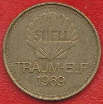 Жетон Shell Шелл Хёттгес футбол Traum-elf 1969