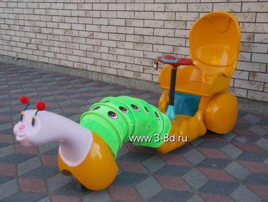Аттракцион, детский электромобиль Гусеничка
