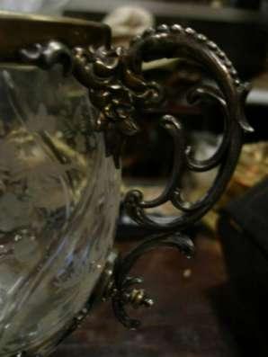 Старинная бонбоньерка(вазон),стекло,мета в Санкт-Петербурге Фото 2