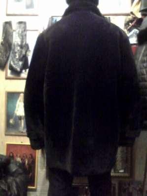 Продаю шубу чёрную, мужскую из мутона с воротом из норки в Барнауле Фото 1