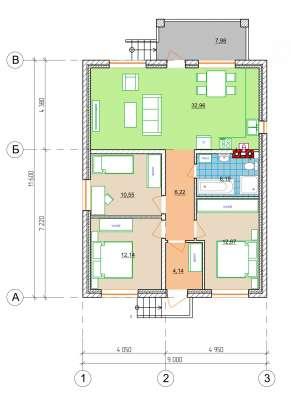 Продаю дом 86 кв. метров в Краснодаре Фото 3