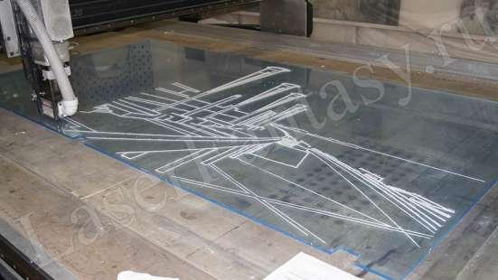 Процесс гравировки любого изображения на разных материалах