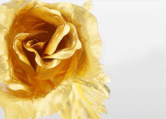 Золотая роза (24 К) для любимой без коробки