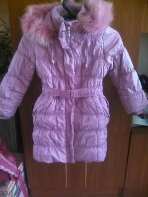 Детское пальто зимнее на синтепоне