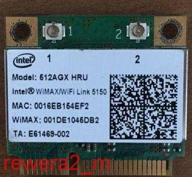 Intel WiMax/WiFi Link 5150 Model 512GX HRU