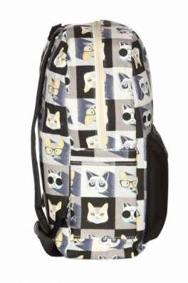 Рюкзак городской Коты серый