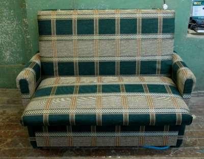 Диван-кровать Зеленый в клетку 150