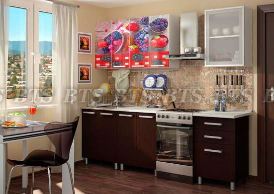 Кухня 1.8м ЛДСП с фотопечатью в г. Минск Фото 2