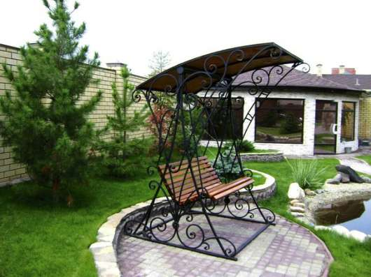 Скамейки, качели, мостики и другие изделия для дачи