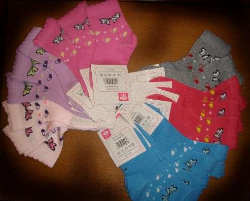 Новые хлопковые носки на девочку 3-4 года