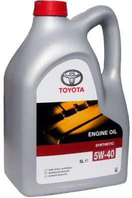 Масло моторное Toyota 0W30 5литров синтетика