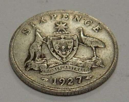 6 пенсов, 1927 г Австралия. Серебро