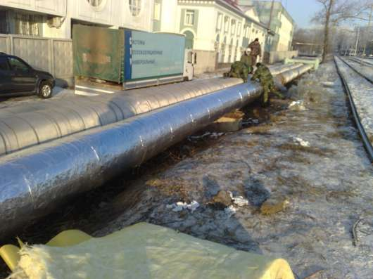 Теплоизоляция труб Фольма-ткань в Новосибирске Фото 1