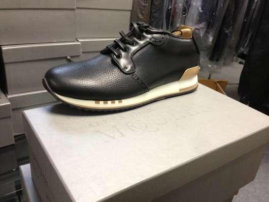 Кроссовки кожаные Alexander McQueen