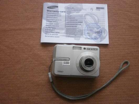 "Продам Фотоаппарат ""Самсунг"" с - 860 на Аккумуляторах +Карта"