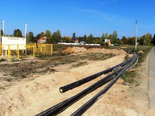 12 соток в с. Поречье, газ по границе участка.