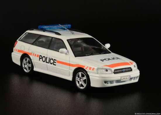 полицейские машины мира №58 SUBARU LEGACY полиция швейцарии