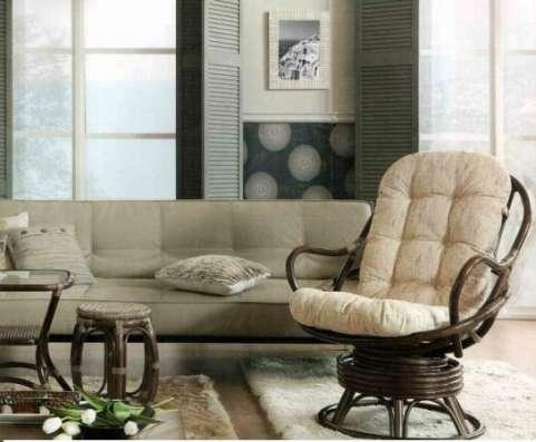 Мебель плетеная из натурального ротанга кресло качалка 05.01