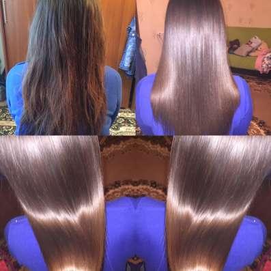 Кератиновое выпрямление и наращивание волос