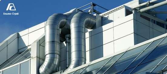 Мотаж промышленной вентиляции, воздуховодов